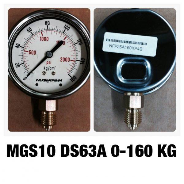 เกจทองเหลือง 2.5 ออกล่าง MGS10 DS63A 0-160 KG