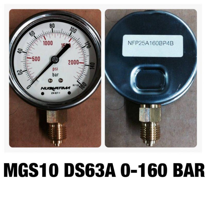 เกจทองเหลือง 2.5 ออกล่าง MGS10 DS63A 0-160 BAR