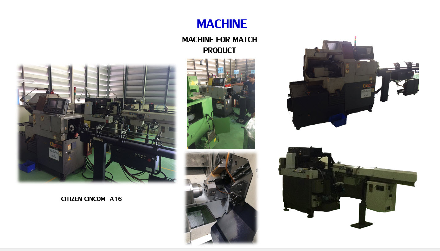 Machine for match product